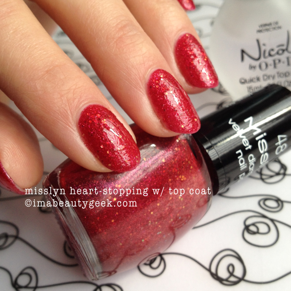 Misslyn Heart Stopping with Topcoat