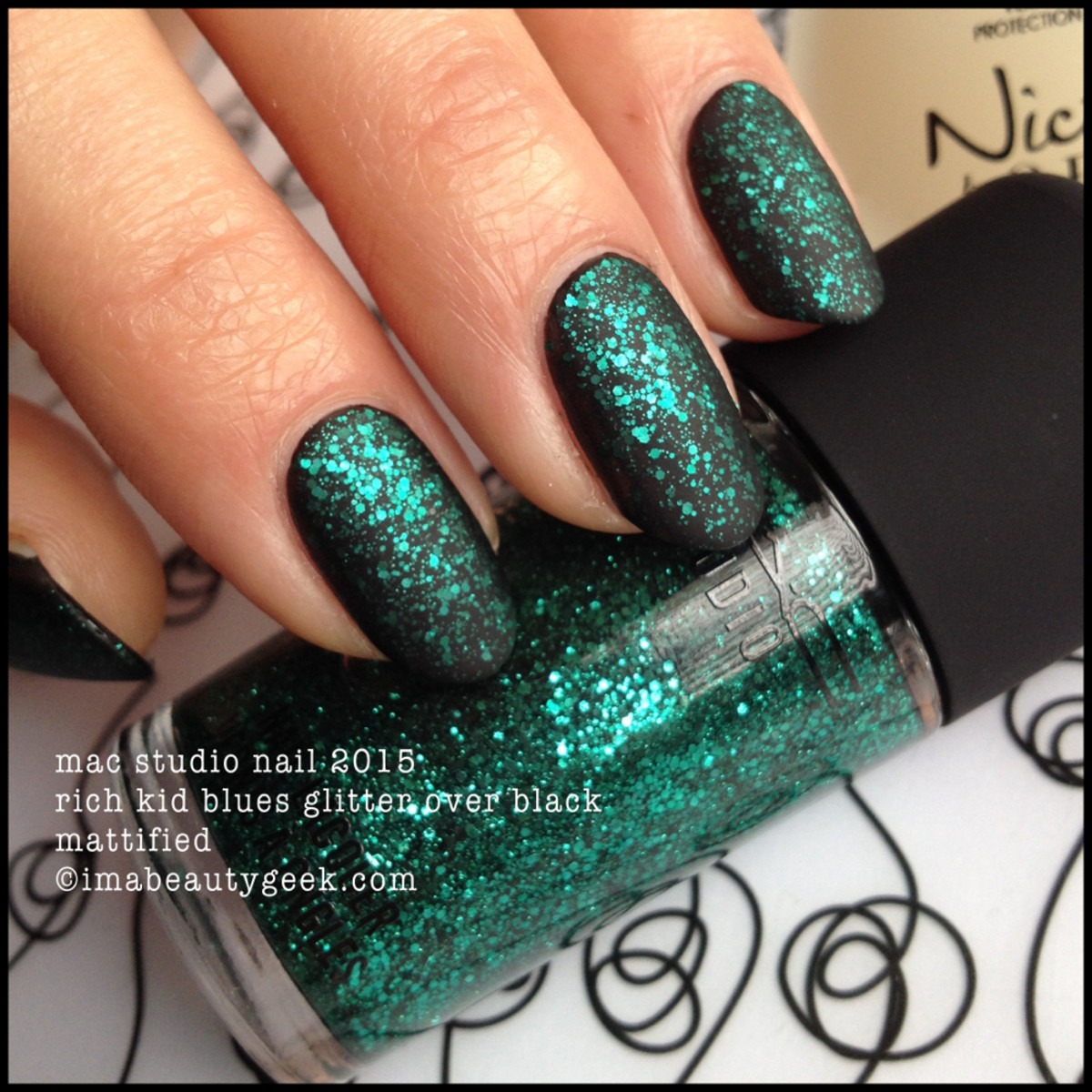 MAC Rich Kid Blues Nail Polish over Black Mattified