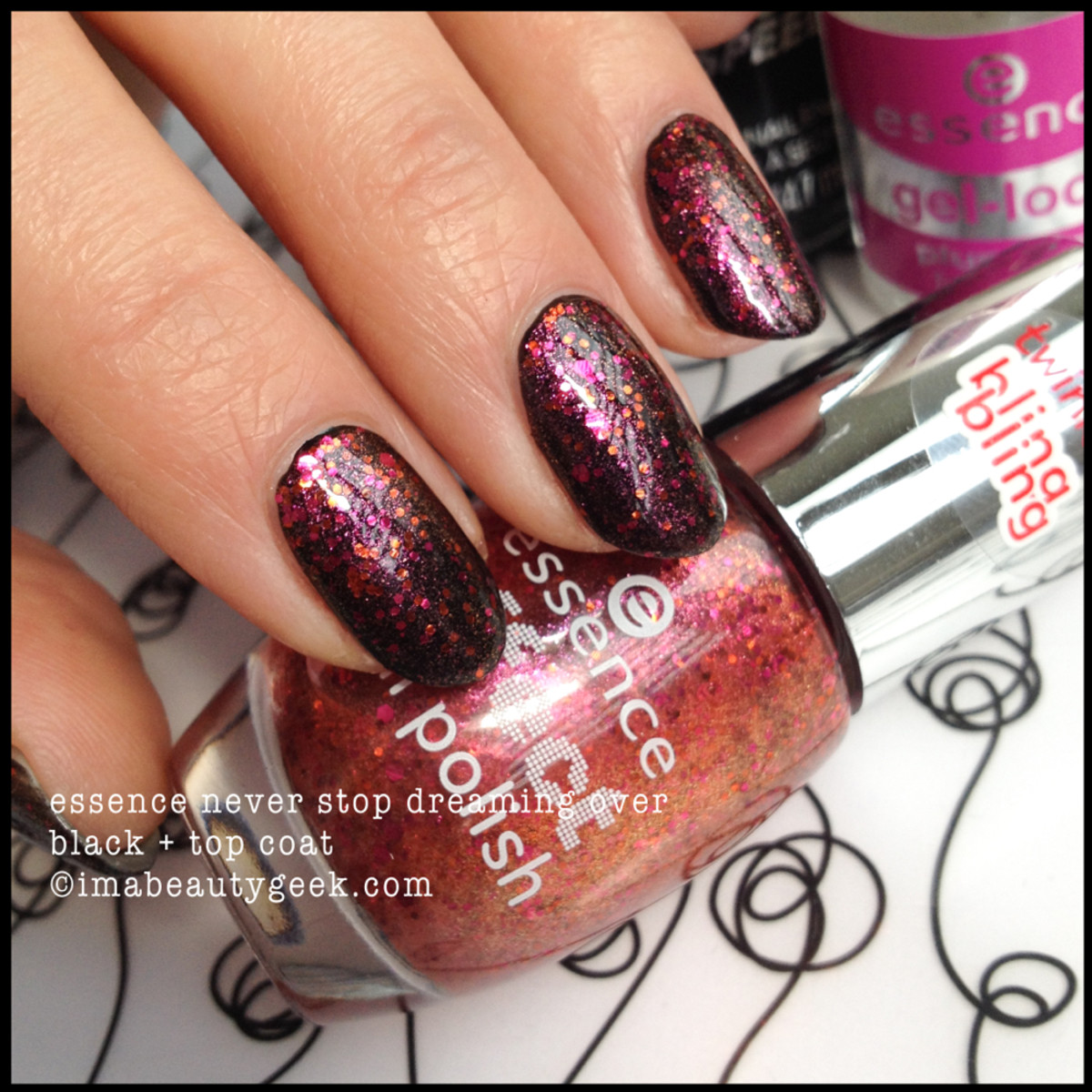 essence never stop dreaming nail polish black undies topcoated
