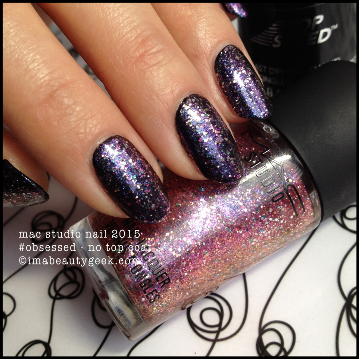 MAC #Obsessed nail polish swatch