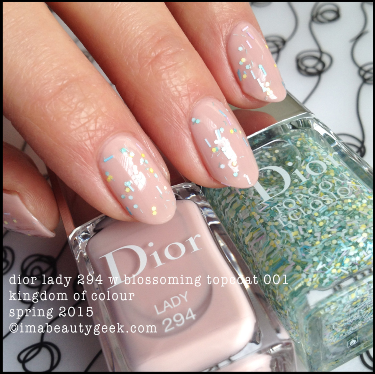 Dior Lady 294 w Blossoming TopCoat 001 Spring 2015