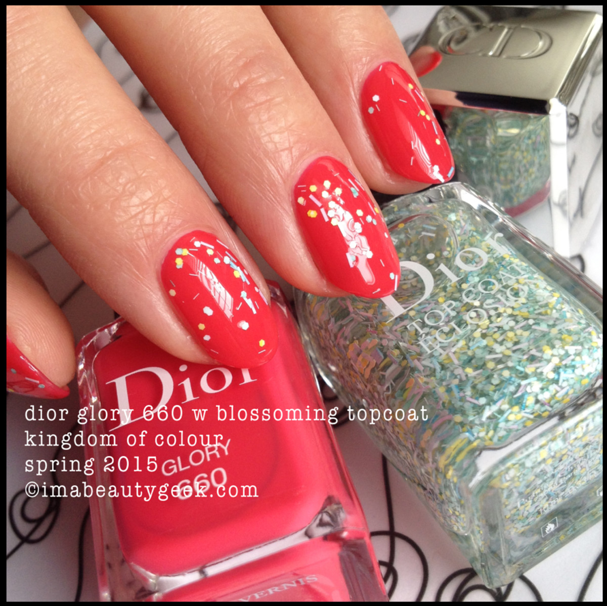 Dior Glory 660 w Dior Blossoming top coat