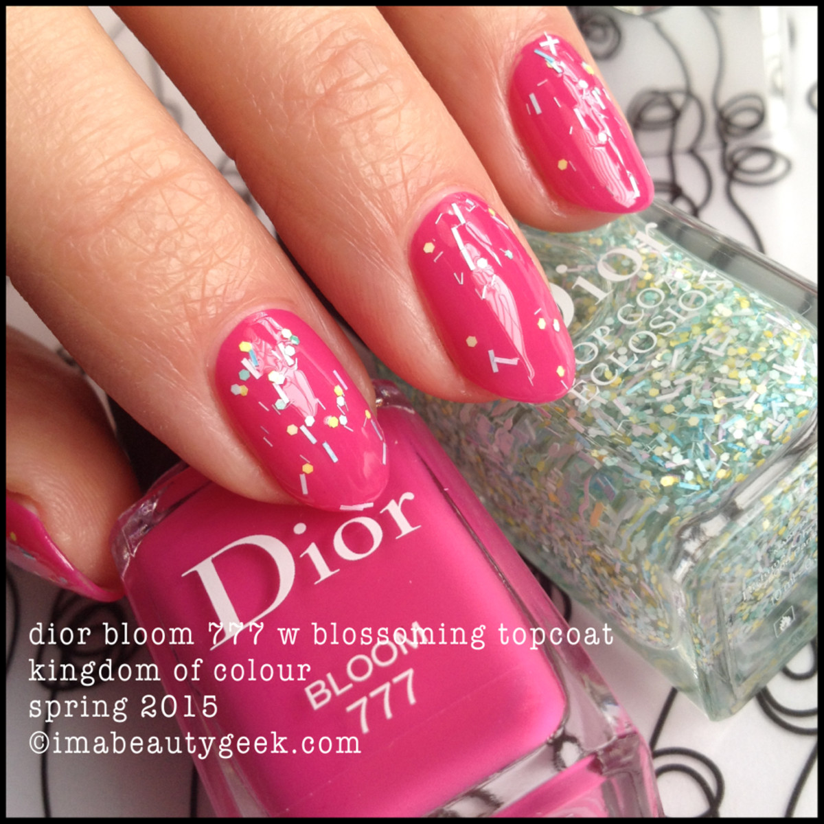 Dior Bloom 777 w Dior Blossoming TopCoat Spring 2015