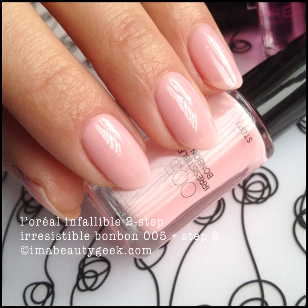 LOreal infallible 2 step BonBon w Topcoat