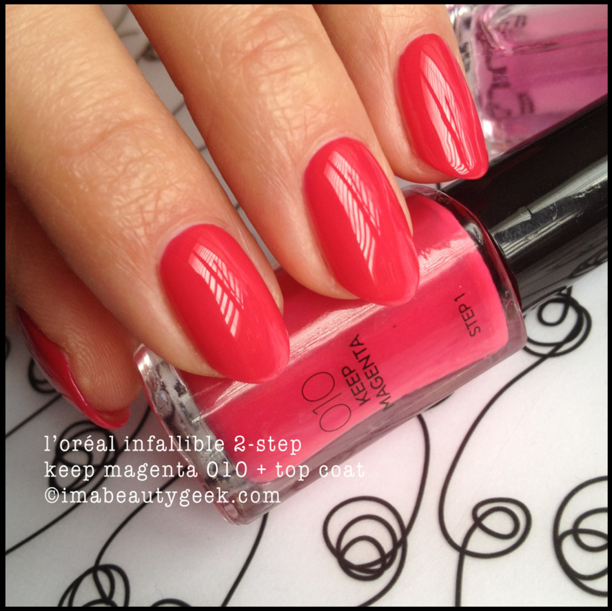 LOreal Infallible 2 Step Keep Magenta w TopCoat