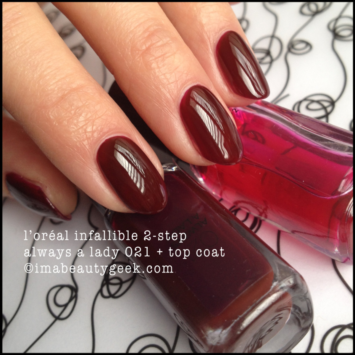 LOreal Infallible 2 Step Always a Lady 021 w Top Coat