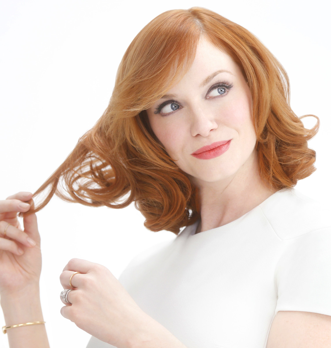 Christina Hendricks for the Clairol Nice 'n Easy #shiftashade campaign