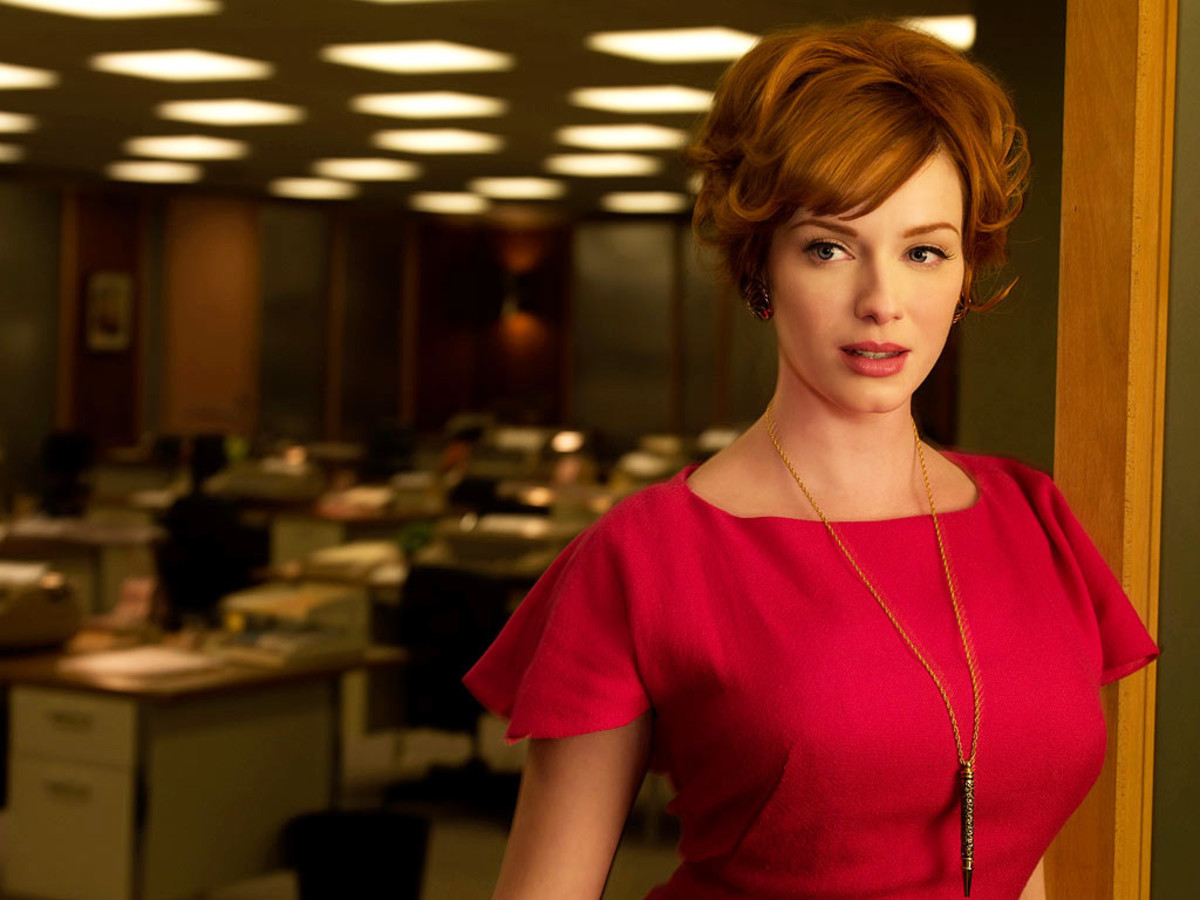 Christina Hendricks Clairol Nice n Easy_as Joan Holloway on Mad Men