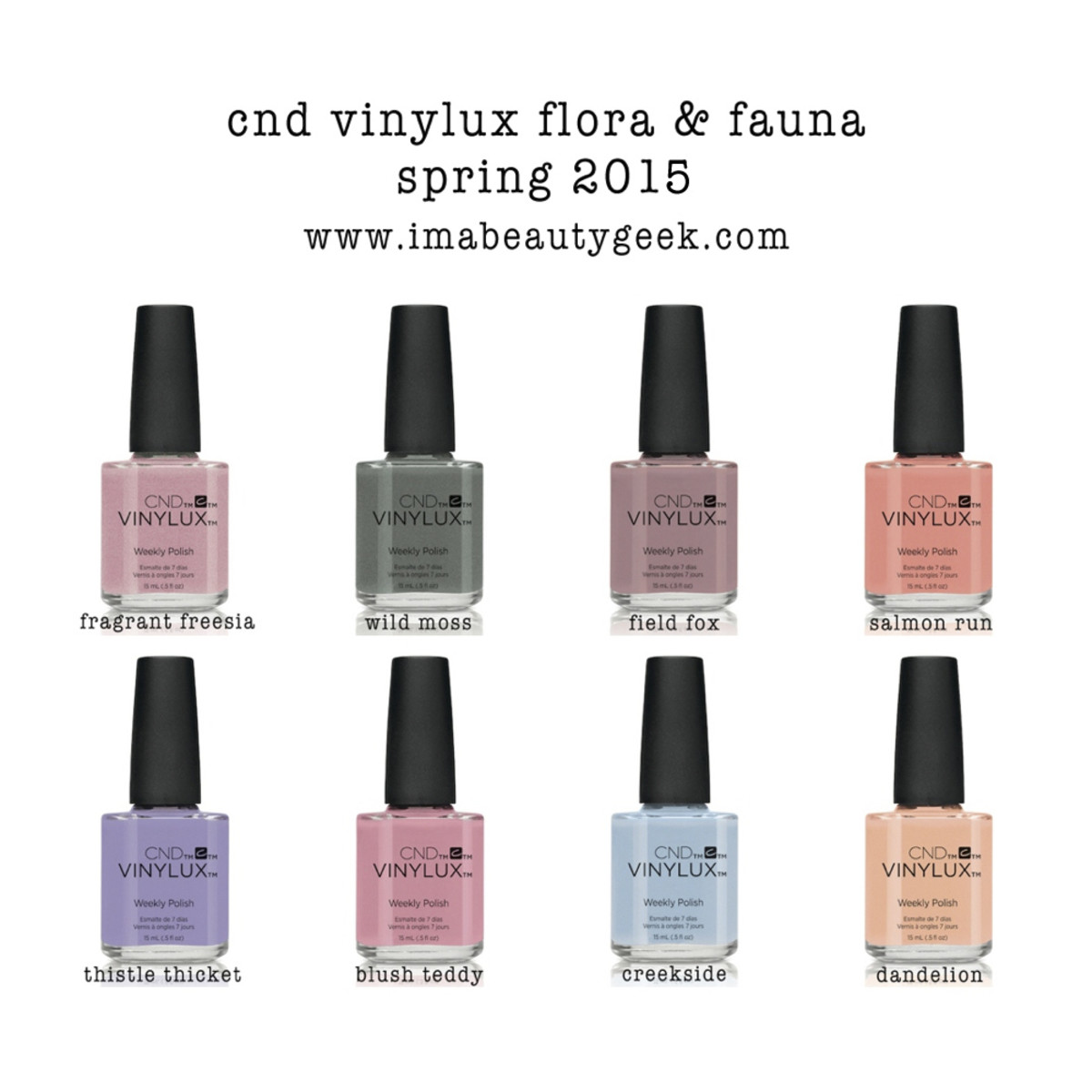 CND Vinylux Flora & Fauna Collection Spring 2015