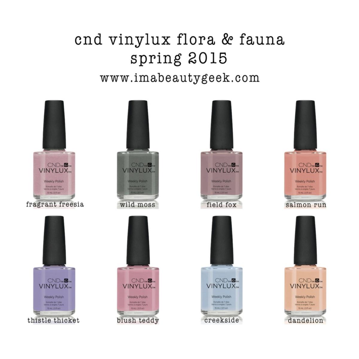 CND Vinylux Flora & Fauna Collection Spring 2015