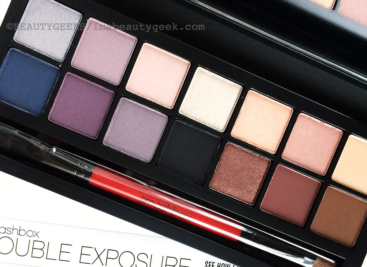 A closer look at the Smashbox Double Exposure palette.