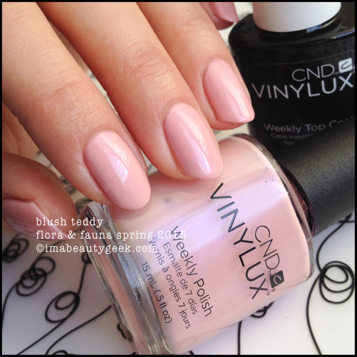 CND Vinylux Blush Teddy Spring 2015 Flora and Fauna Collection