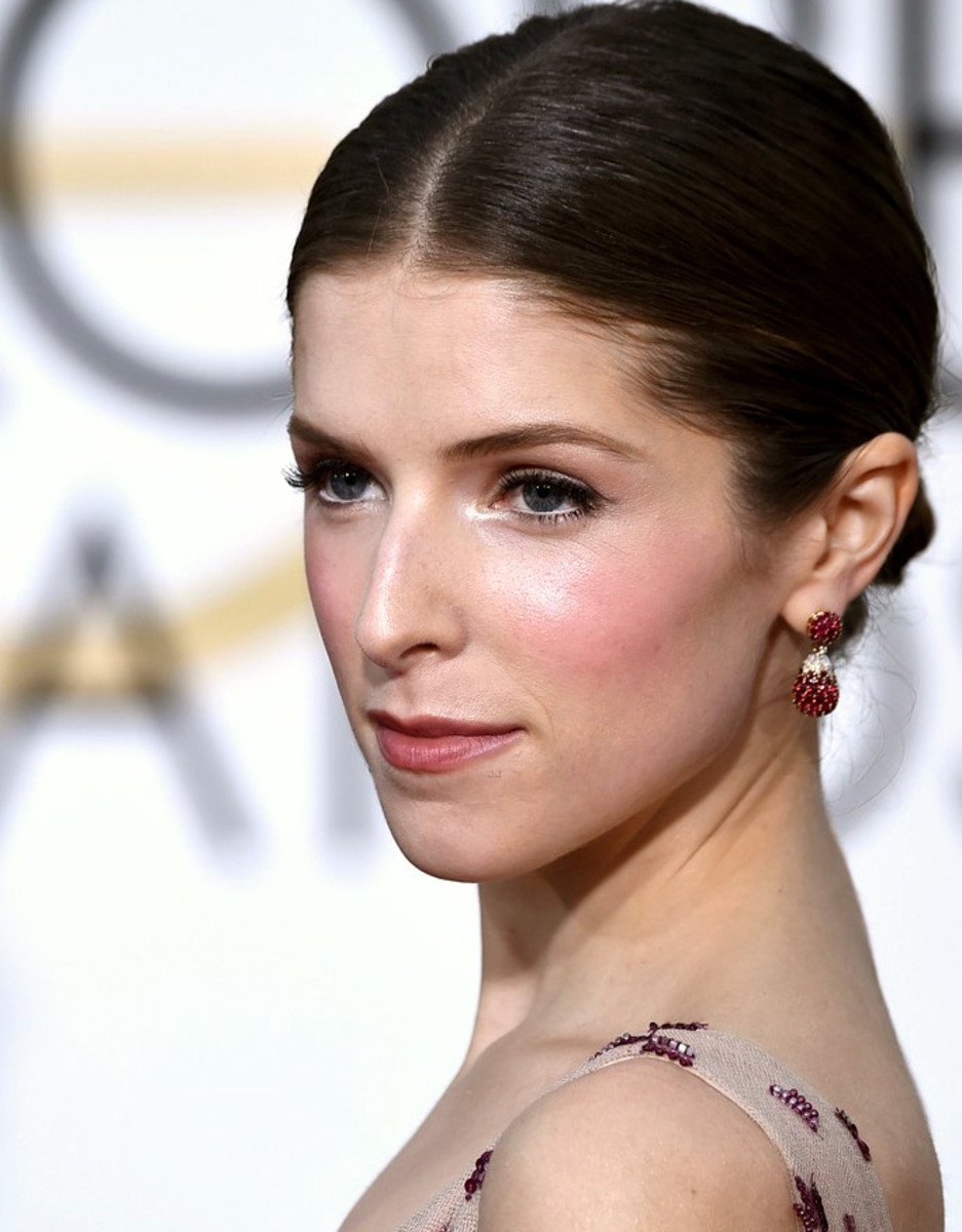 Anna Kendrick: Golden Globes 2015 makeup by Vanessa Scali using Dolce & Gabbana Beauty