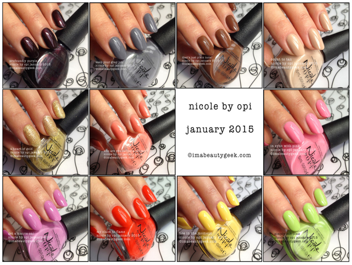 WIN THIS Nicole by OPI Spring 2015 collection from imabeautygeek.com