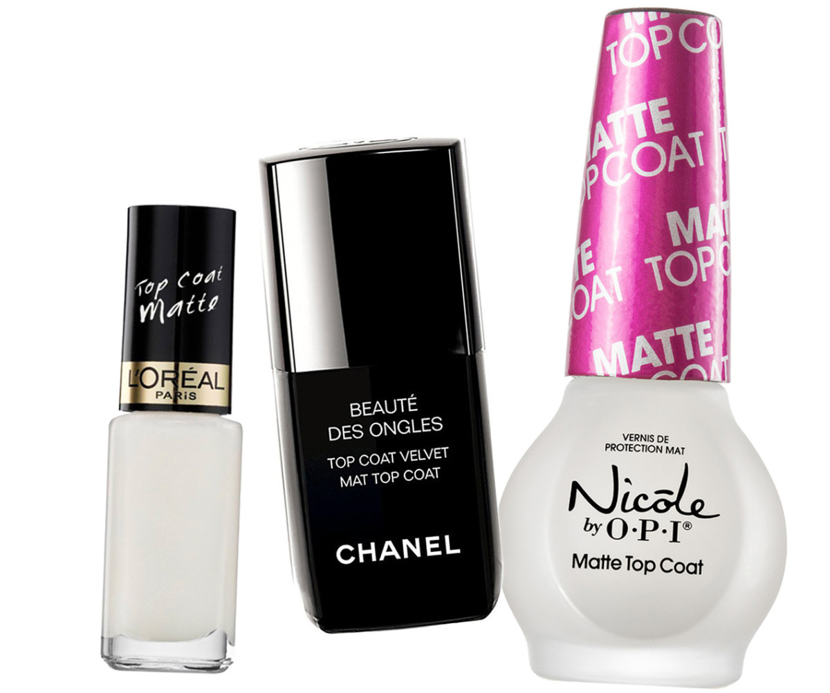 Best Matte Top Coats_L'Oreal Paris Matte Top Coat_Chanel Velvet Mat Top Coat_Nicole by OPI Matte Coat