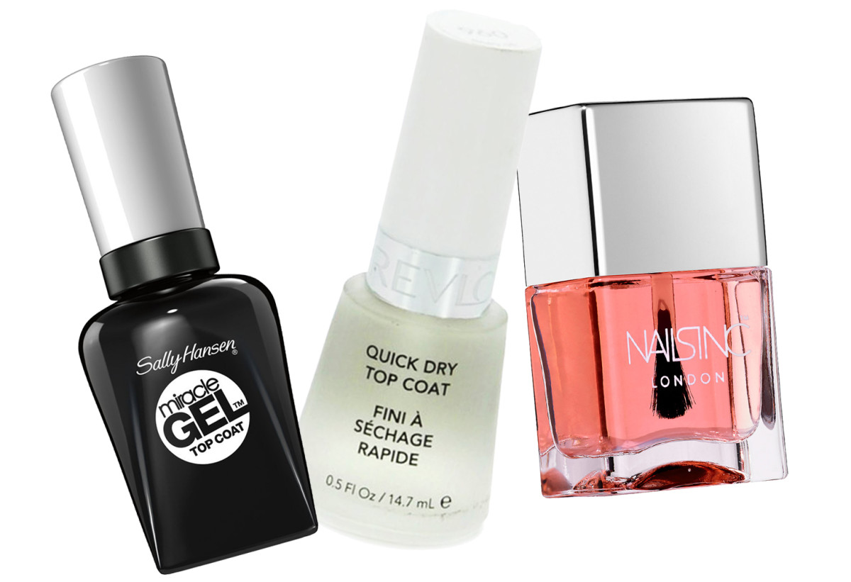 Best top coats_Sally Hansen Miracle Gel_Revlon Quick Dry_Nails Inc 45-Second Top Coat