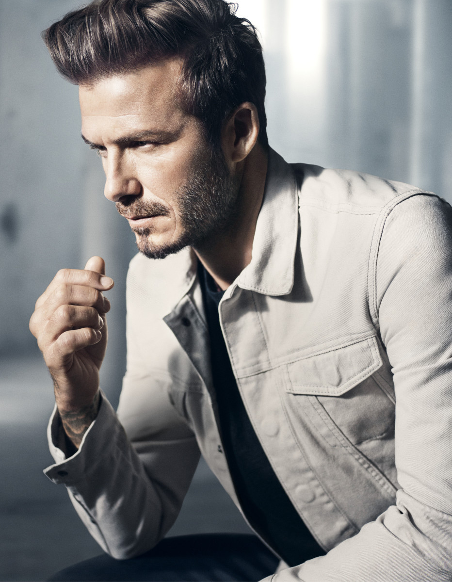 H&M Modern Essentials Selected by David Beckham chalk-washed denim jacket