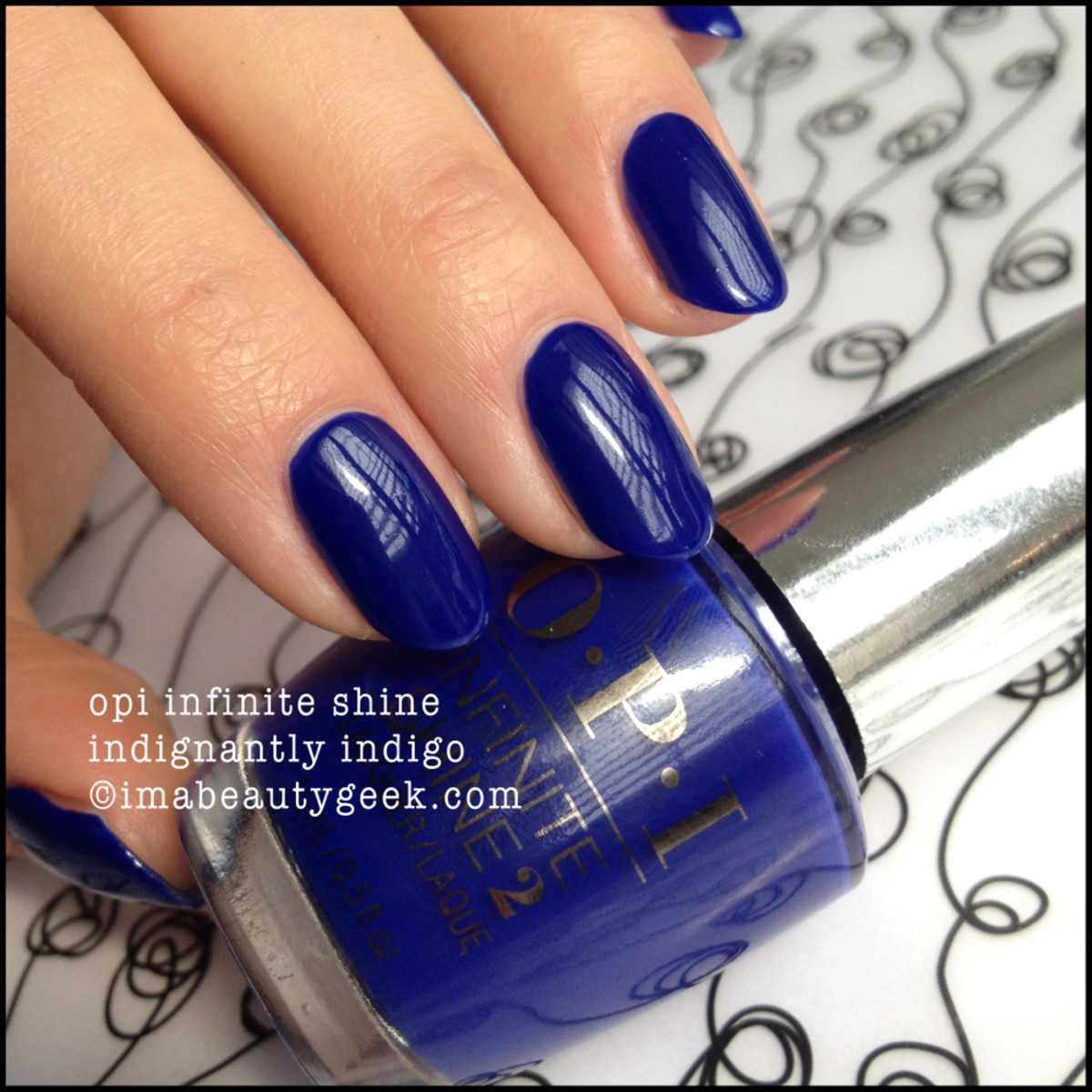 OPI Indignantly Indigo Infinite Shine Swatch