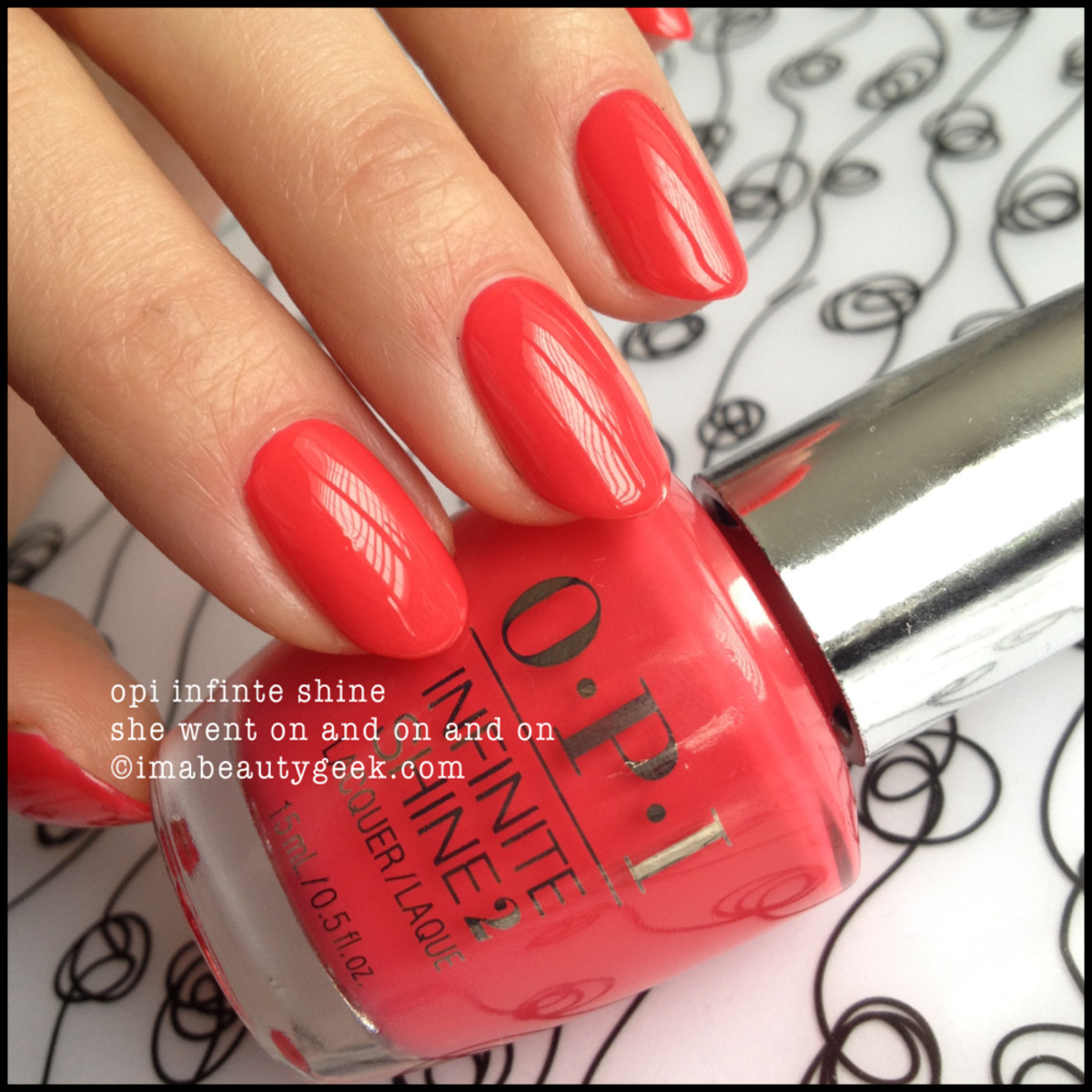 OPI Infinte Shine She Went On and On and On