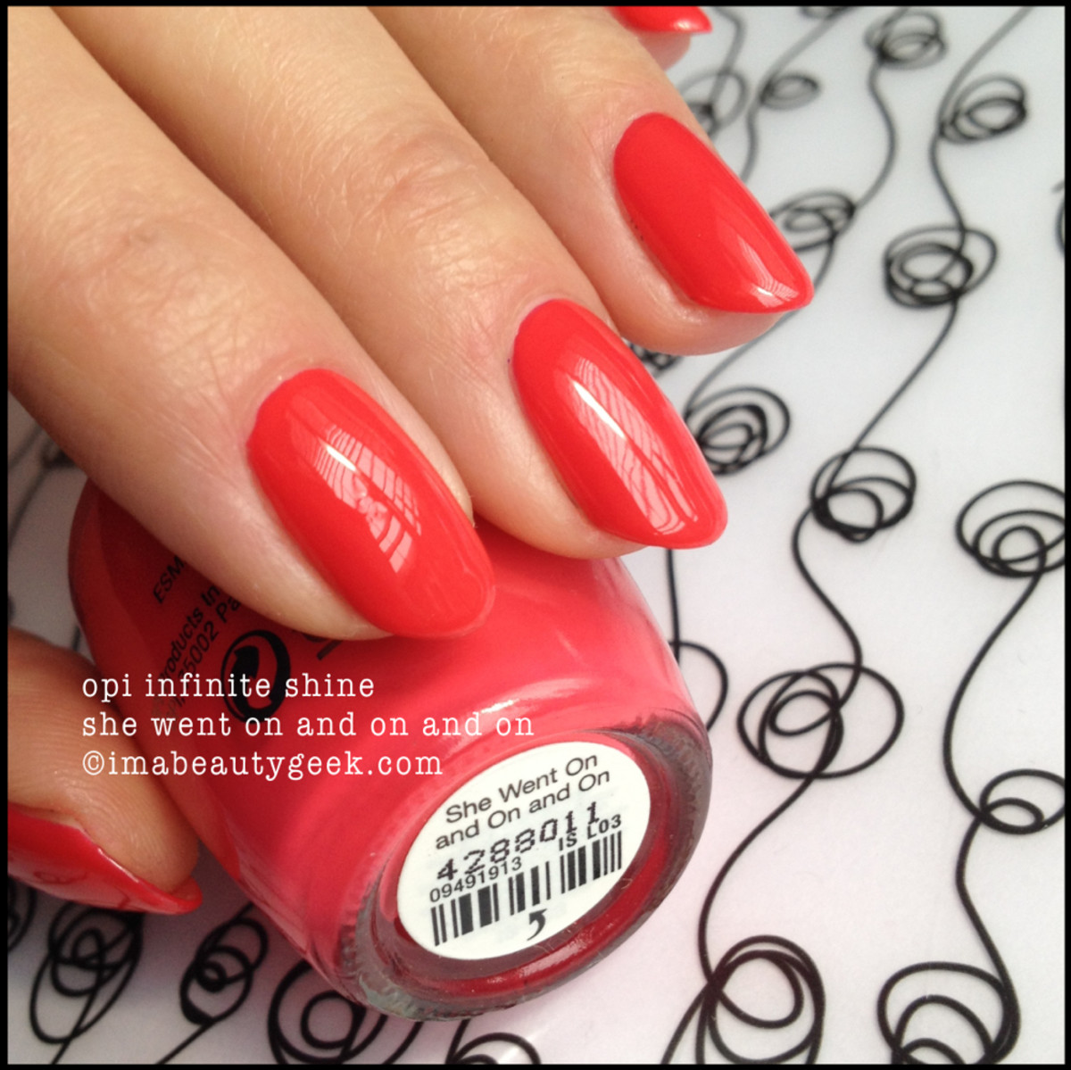OPI She Went On and On and On Inifinite Shine Launch