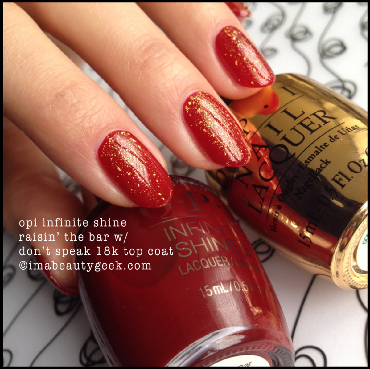 OPI Raisin The Bar Infinite Shine with top coat