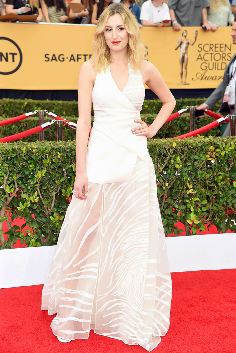 Laura Carmichael red carpet beauty SAG Awards 2015