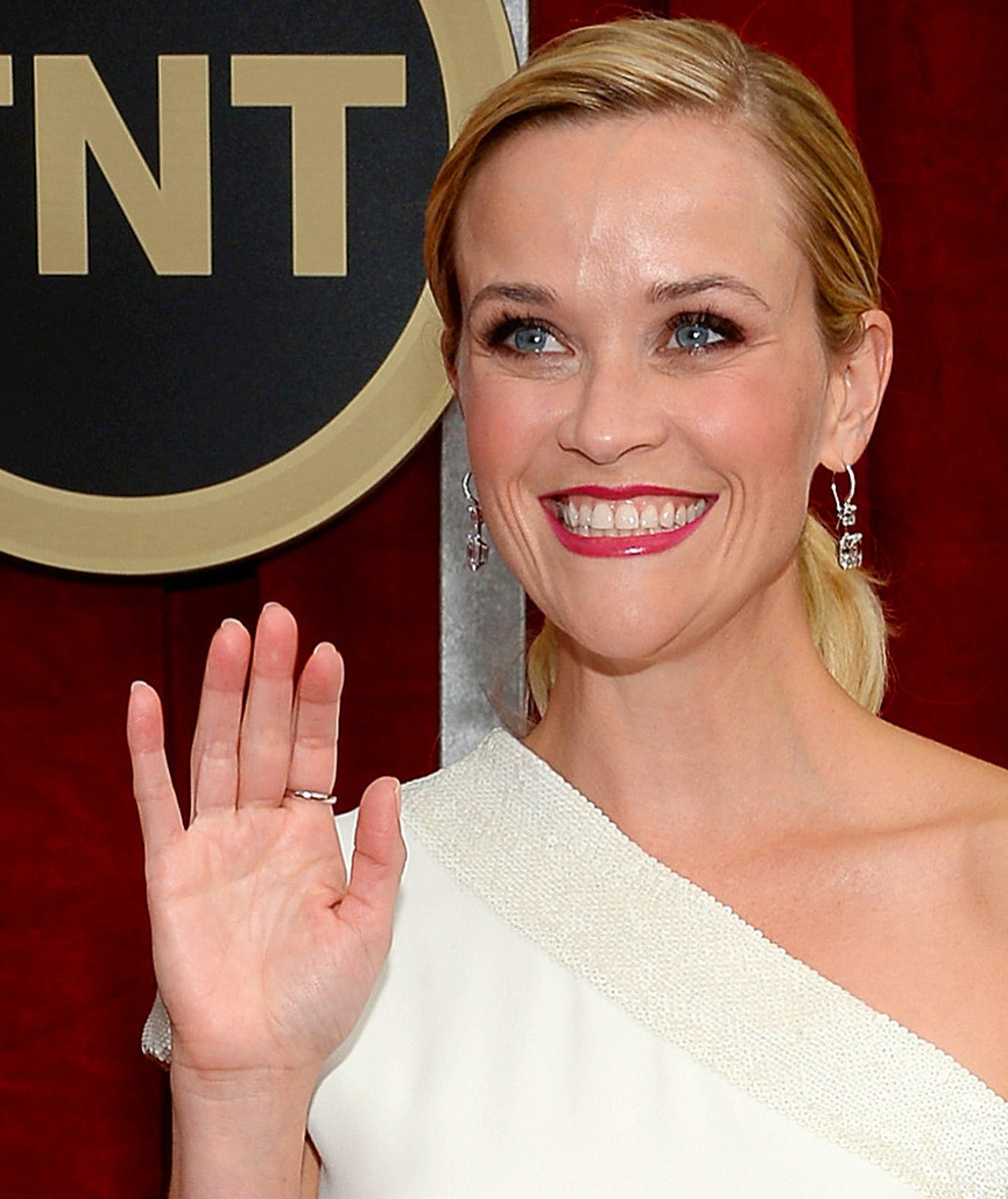 Reese Witherspoon makeup for blue eyes_SAG Awards 2015_skin