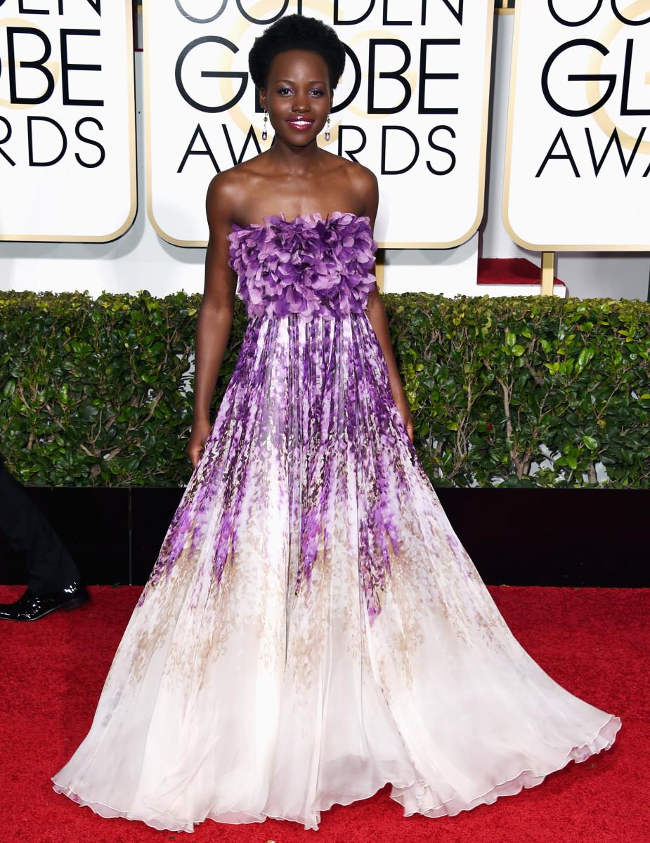 Lupita Nyong'o in Giambattista Valli_Golden Globes 2015
