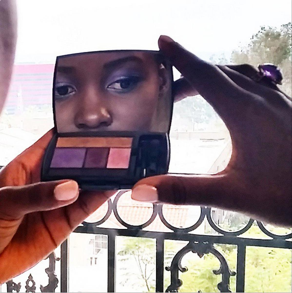 Lupita Nyong'o named this Lancome eyeshadow palette in Jacaranda Bloom; it was designed by her makeup artist Nick Barose