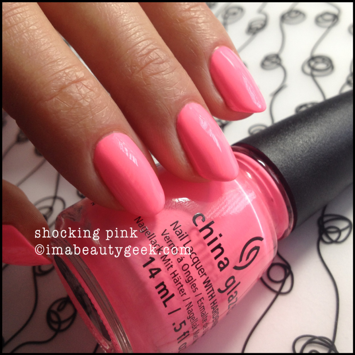 China Glaze Shocking Pink Neon _2
