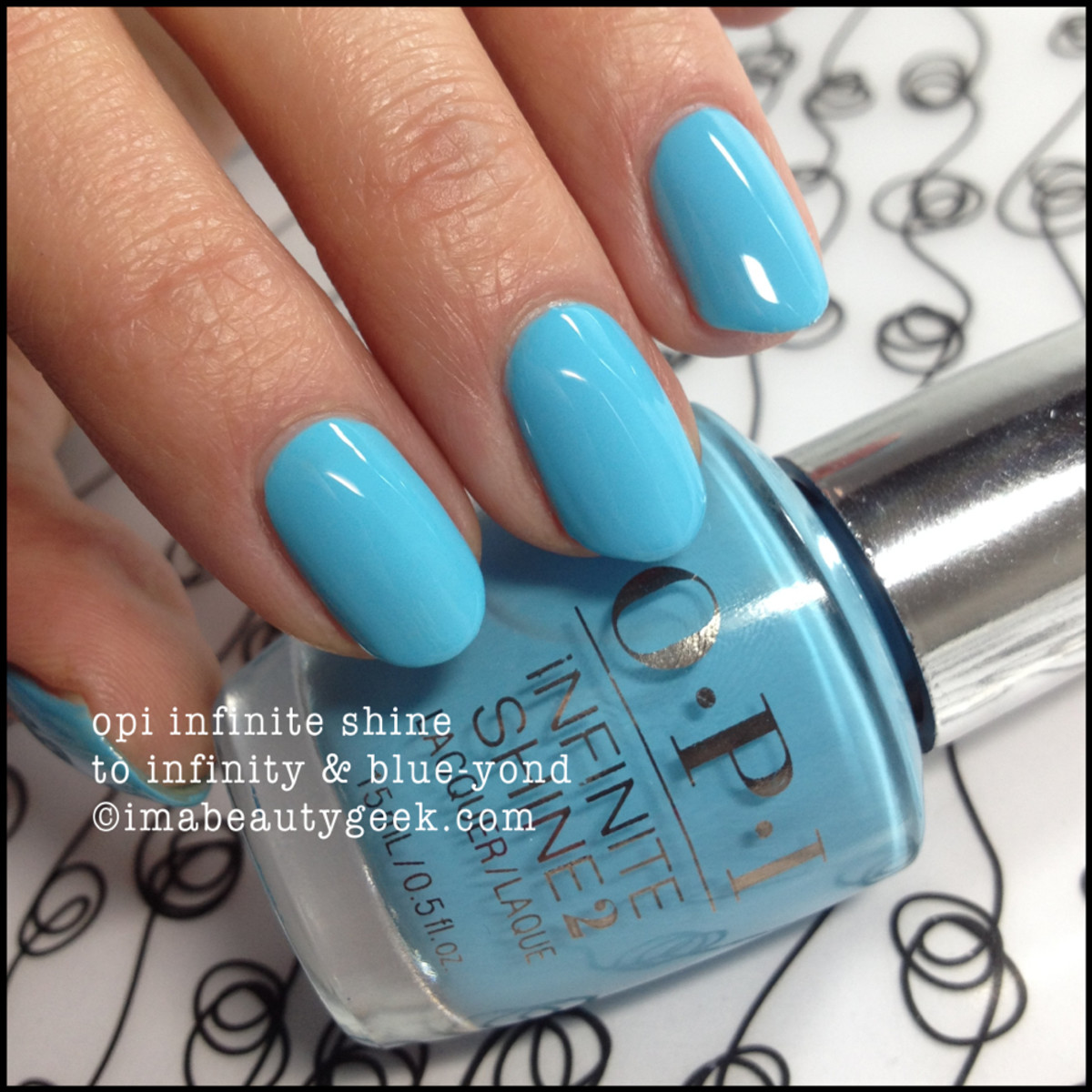 OPI Infinite Shine To Infinity and Blue-yond