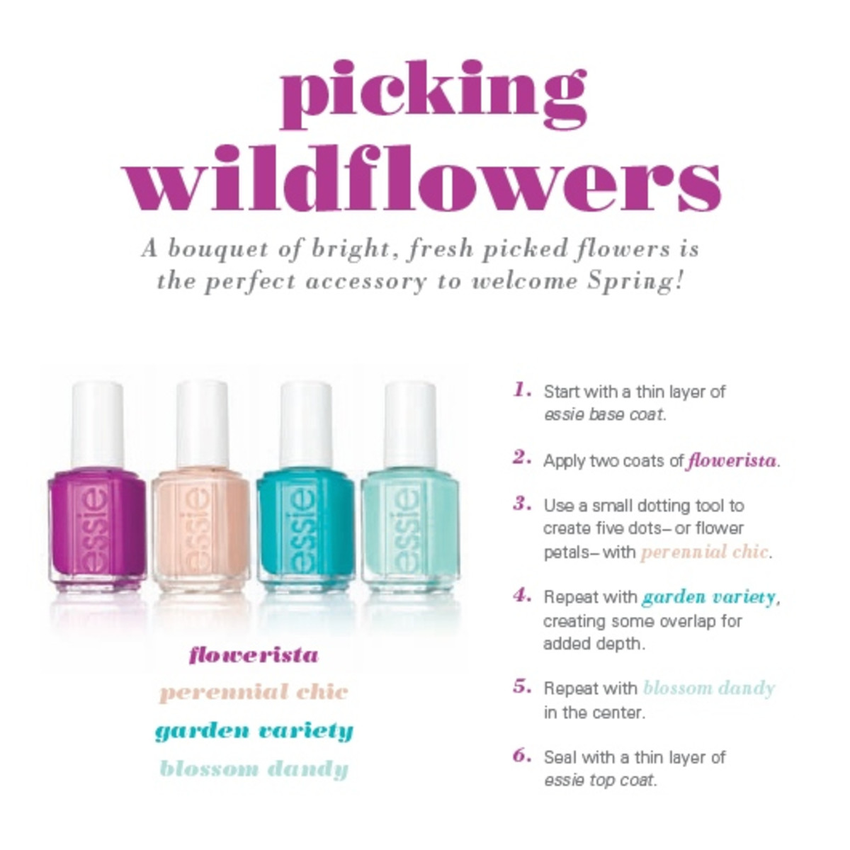 Essie Spring 2015 Picking Wildflowers