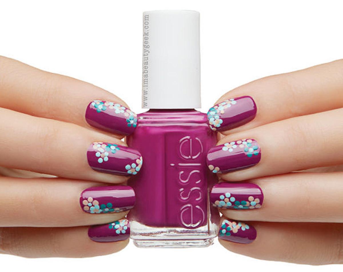 Essie Spring 2015 Flowerista manicure how-to