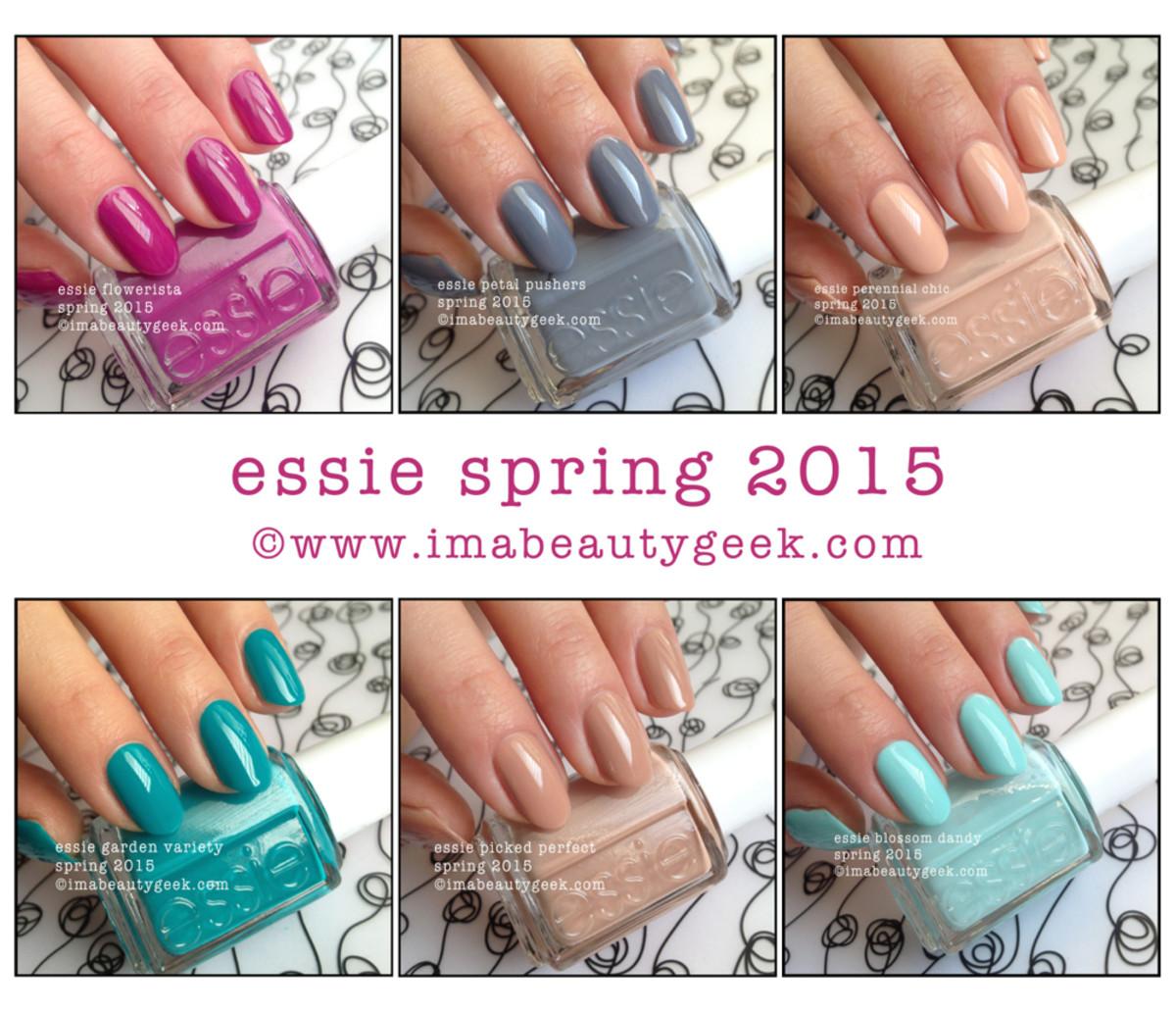 Essie Spring 2015 Swatches Beautygeeks