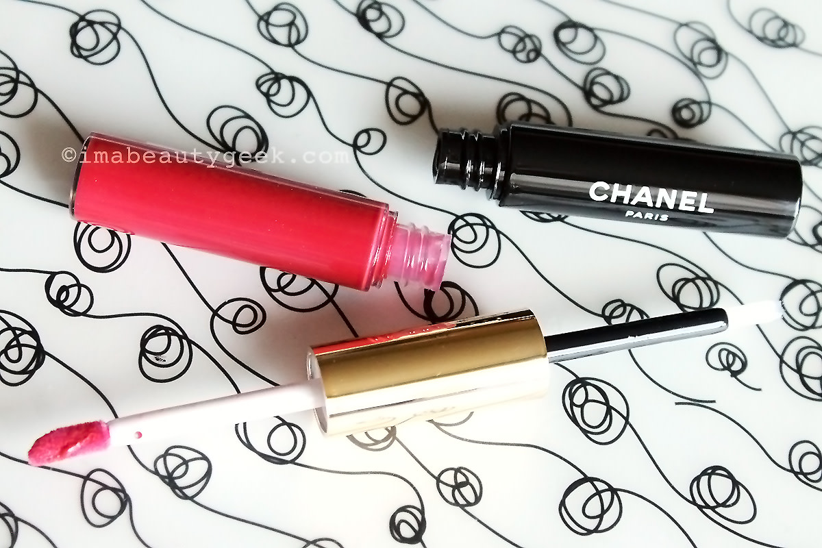 Chanel Rouge Double Intensite Ultra Wear two-step lip colour in Strawberry Red