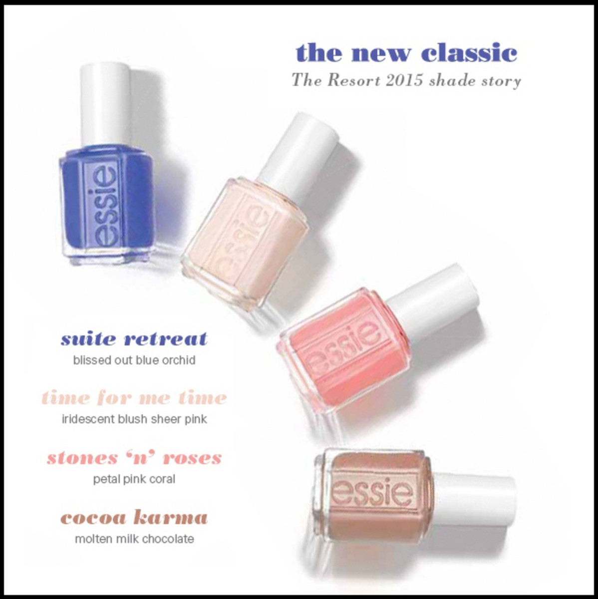Essie Resort 2015 Collection Suite Retreat et al