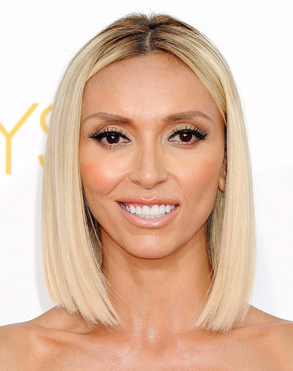 giuliana rancic in good contouring makeup at the 2014 prime time emmy awards