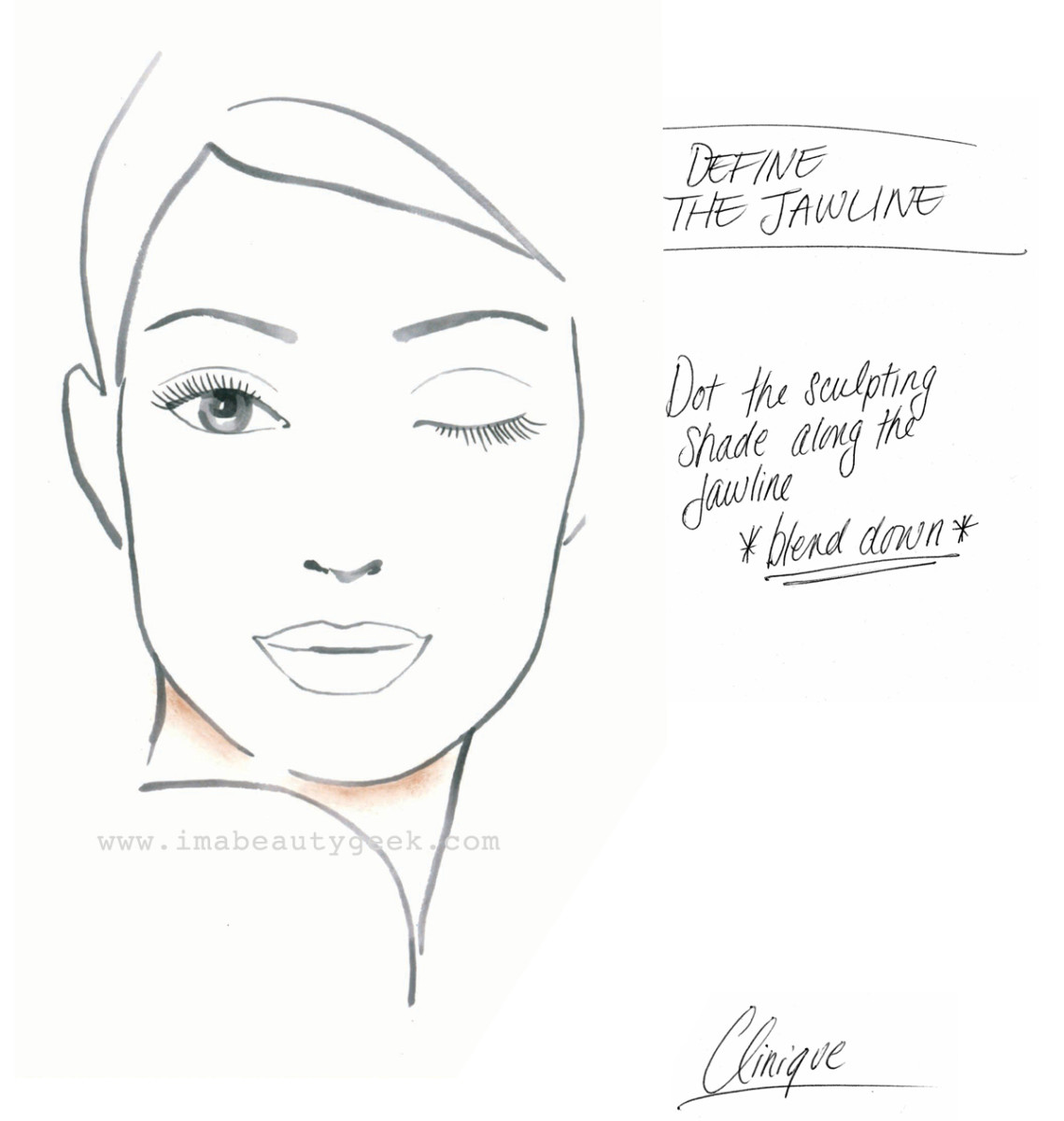 Clinique Chubby Stick Sculpting Highlight and Contour_how to define the jawline