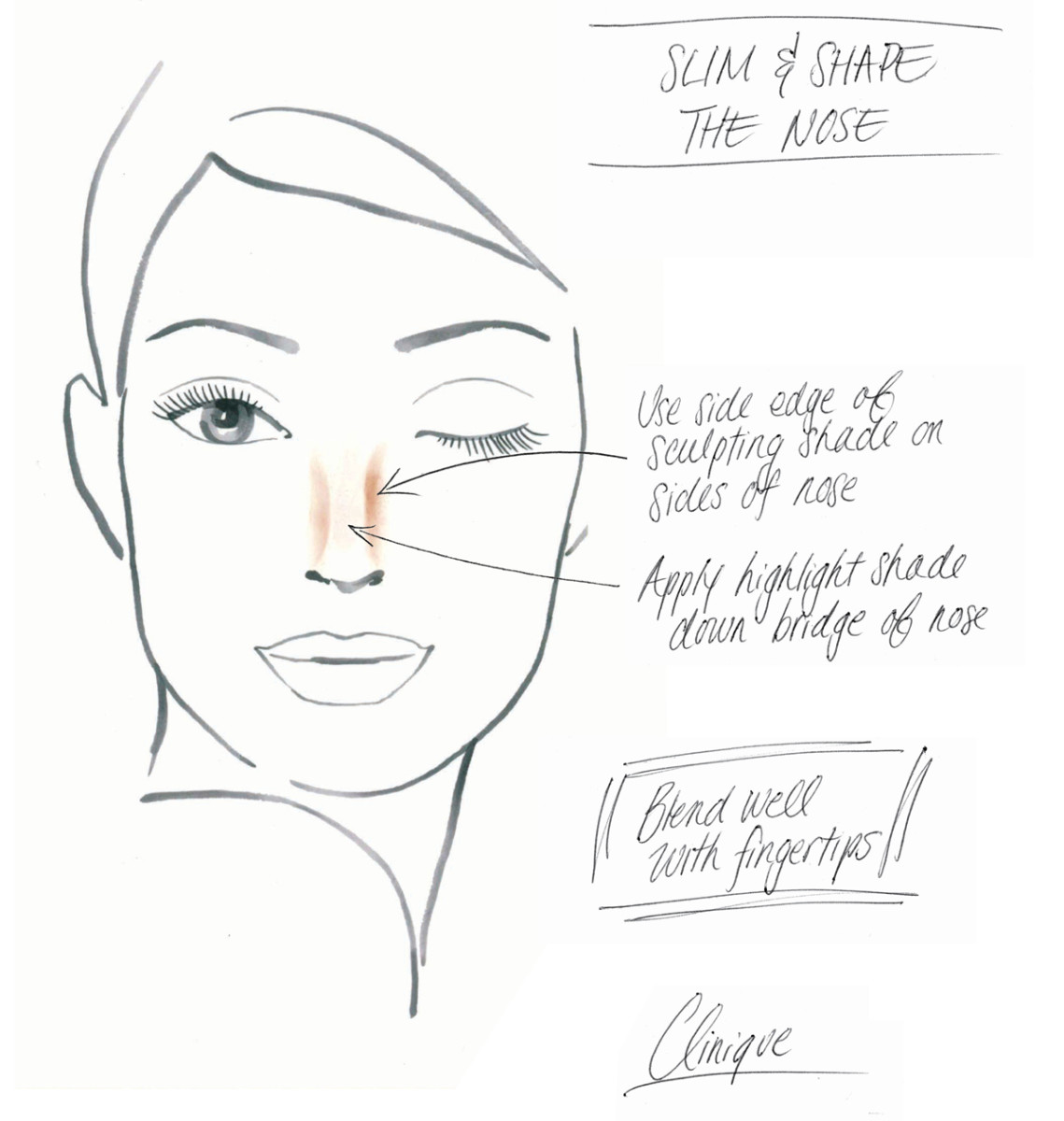 Clinique Chubby Stick Sculpting Highlight and Contour_how to slip and shape the nose