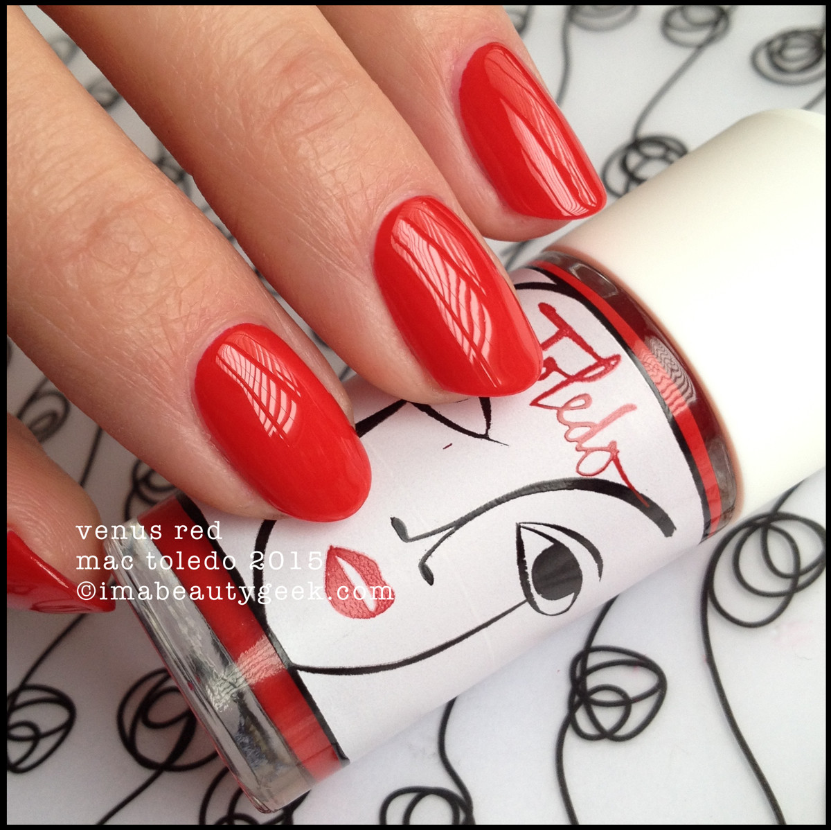MAC Toledo Venus Red Nail Polish 2015