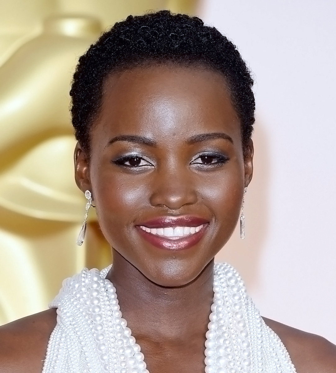 Lupita Nyong'o 2015 Oscars makeup by Nick Barose and Lancome