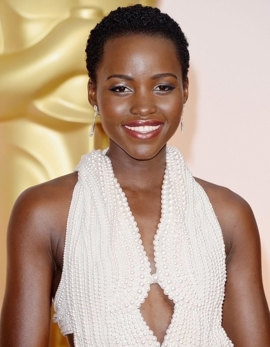Lupita Nyong'o in Calvin Klein and Lancome at the 2015 Oscars