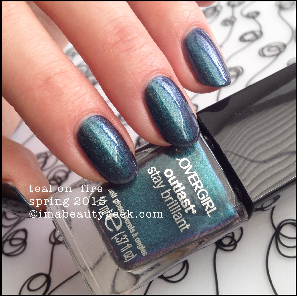 CoverGirl Nails Spring 2015_CoverGirl Teal on Fire Outlast