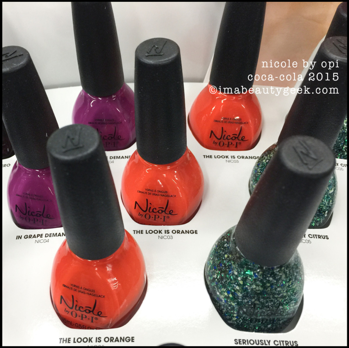 Nicole by OPI Coca Cola Seriously Citrus 2015