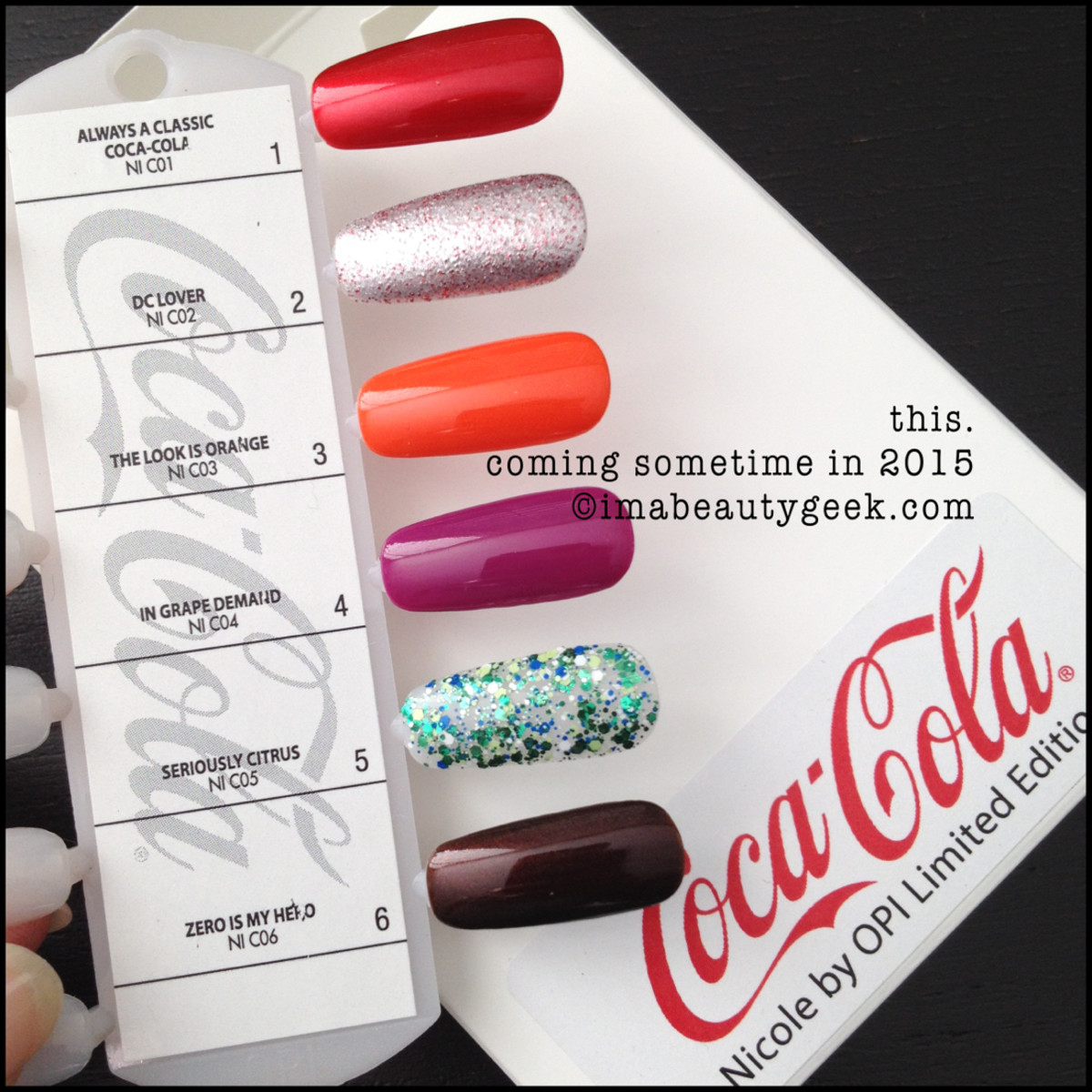 Nicole by OPI Coca Cola 2015 Collection