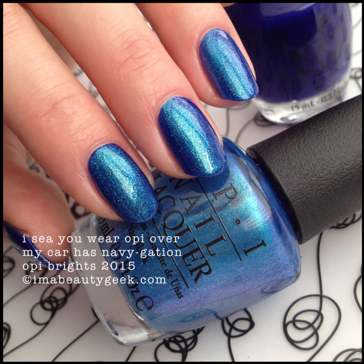 OPI Brights 2015_OPI I Sea You Wear OPI over My Car has Navy-Gation