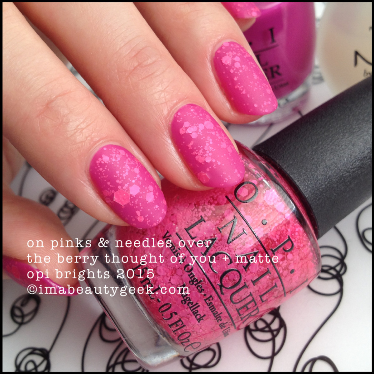 OPI Brights 2015_OPI On Pinks & Needles over The Berry Thought of You Matte