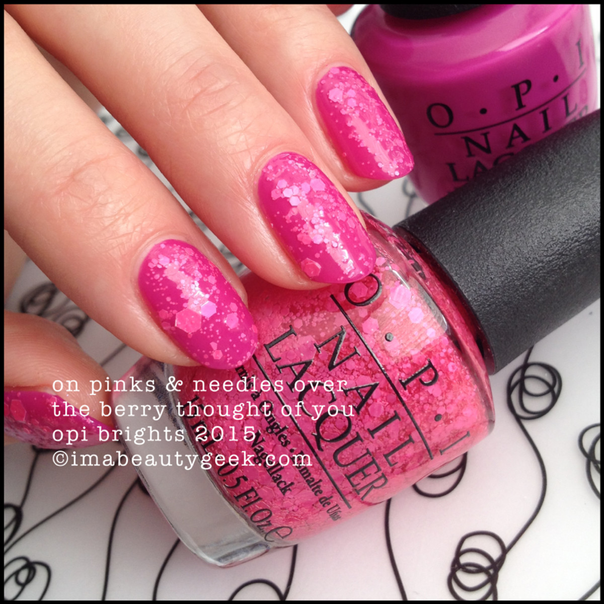 OPI Brights 2015_OPI On Pinks & Needles over OPI The Berry Thought of You