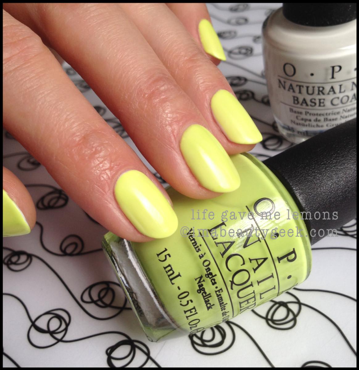 OPI Life Gave Me Lemons Neon 2014