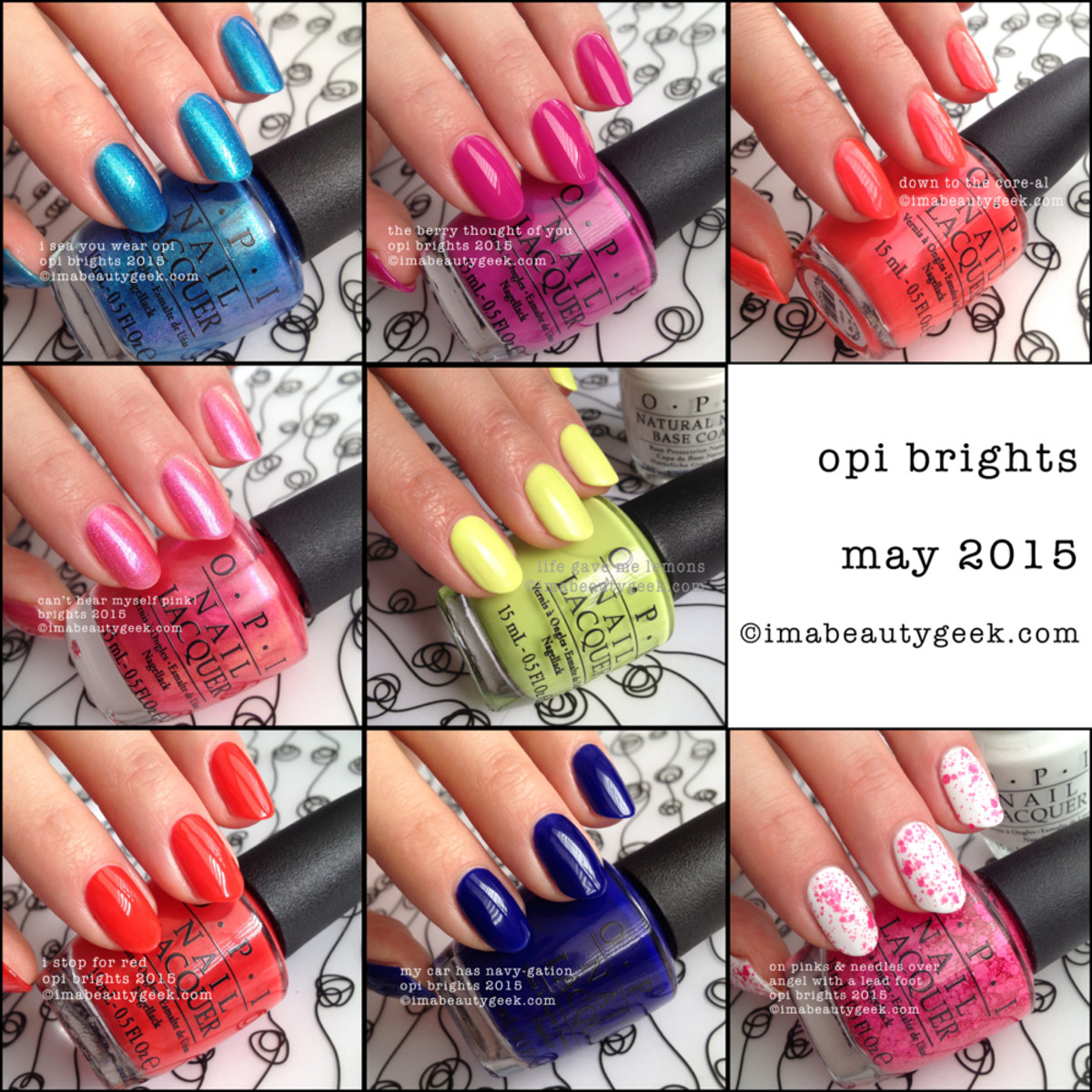 OPI Brights 2015 Collection ManiGeek Swatches